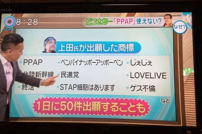 ピコ太郎のPPAPを勝手に商標出願した男性「ビジネス」と強調