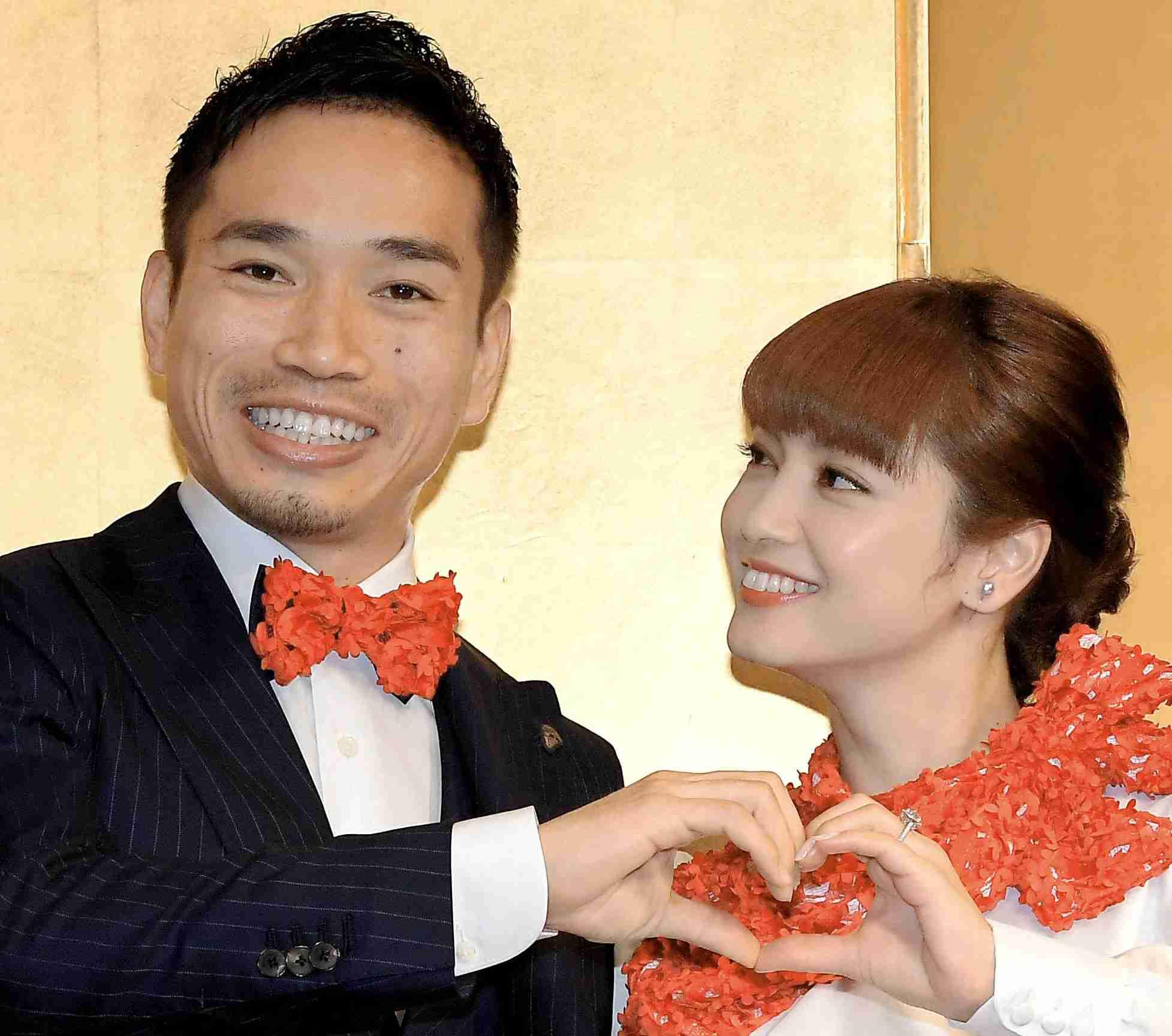 平愛梨&長友が入籍 ブログで報告「家族になりました!」 (デイリースポーツ) - Yahoo!ニュース