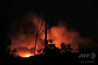 イスラエル軍機がシリア空軍基地にミサイル攻撃か、シリア軍発表 写真3枚 国際ニュース:AFPBB News