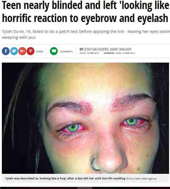 【海外発!Breaking News】人気の「眉ティント」で危うく失明しかけた16歳少女(豪) | Techinsight|海外セレブ、国内エンタメのオンリーワンをお届けするニュースサイト