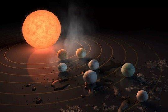 NASA、7つの地球サイズ惑星を39光年先に発見 3つは生命存在可能 | sorae.jp : 宇宙(そら)へのポータルサイト
