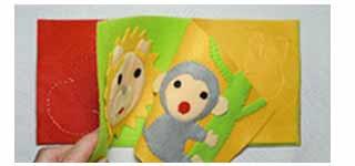 手作り絵本作り方教室 布絵本 赤ちゃん絵本 初めて作る布絵本 製本