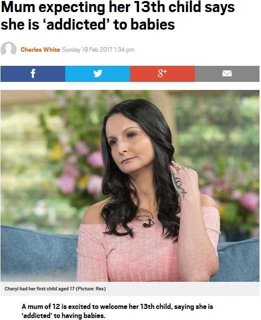 【海外発!Breaking News】年間560万円の生活保護を受給するシングルマザー、13人目を妊娠中(英) | Techinsight|海外セレブ、国内エンタメのオンリーワンをお届けするニュースサイト