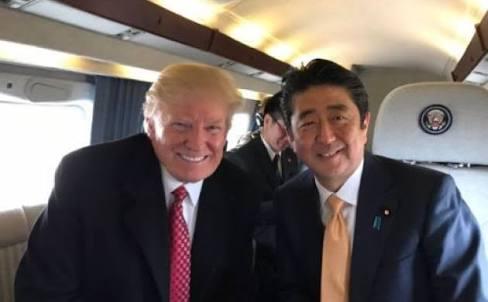 撮影禁止の安倍首相とトランプ米大統領のゴルフ外交 フジテレビが放送