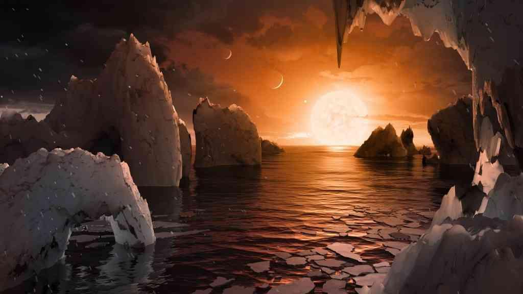 地球に似た7つの太陽系外惑星発見、40光年先-国際研究チーム - Bloomberg