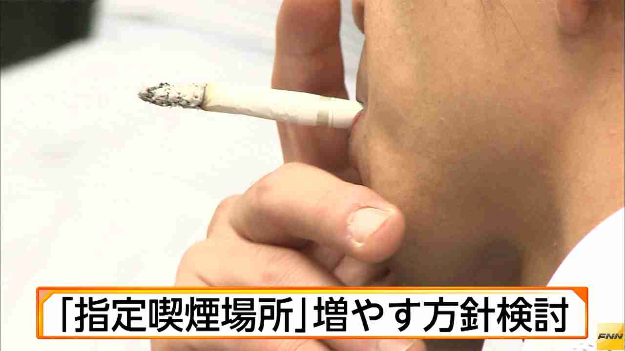 「指定喫煙場所」増やす方針検討 | ホウドウキョク