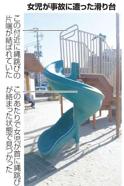 滑り台で首に縄跳び絡まり女児死亡 消費者庁が注意喚起:朝日新聞デジタル