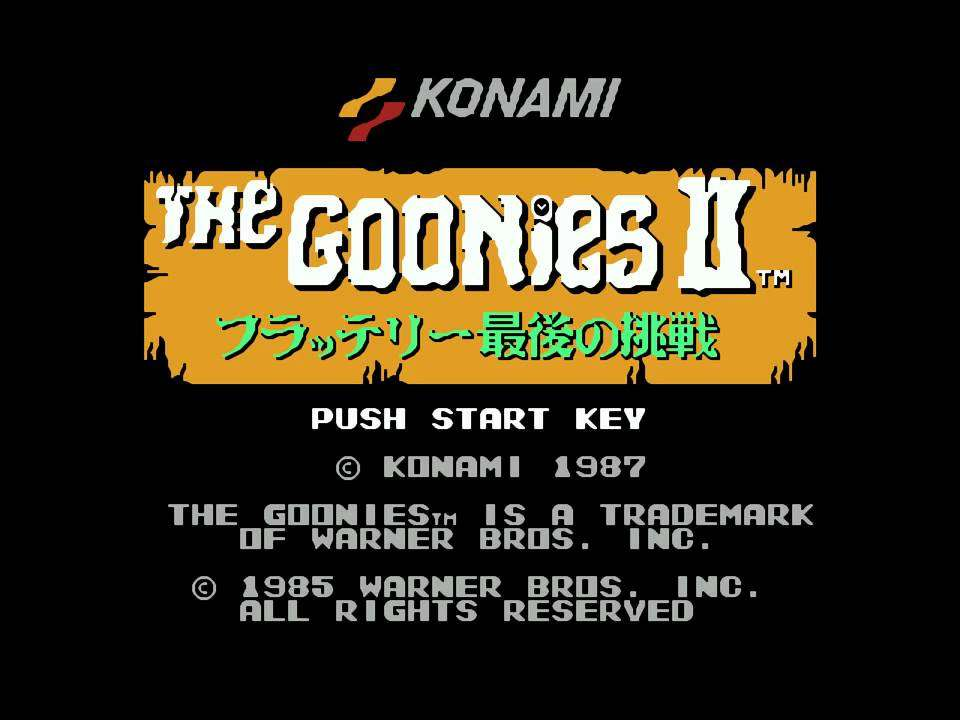 Nes:Goonies II Soundtrack - YouTube