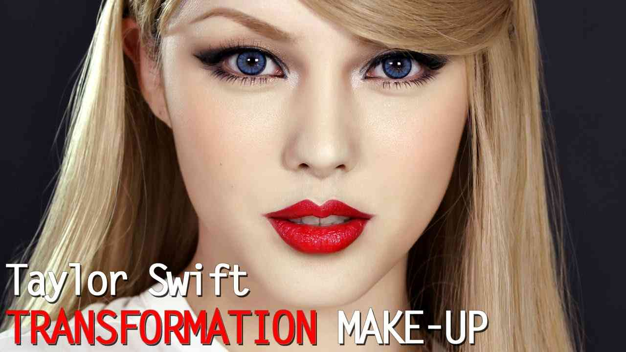 Taylor swift transformation make up (With subs) 테일러 스위프트 커버 메이크업 - YouTube
