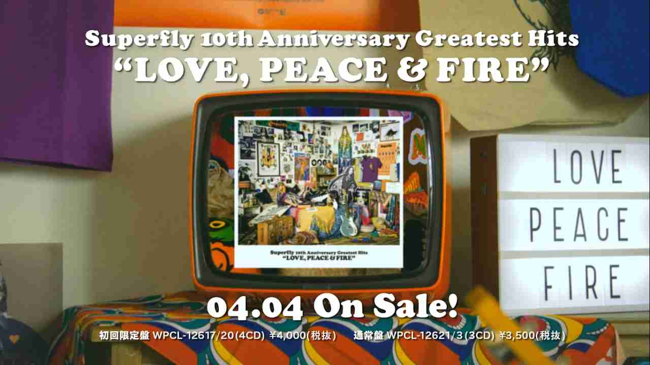 Superfly - 10th Anniversary Greatest Hits『LOVE, PEACE & FIRE』 - YouTube