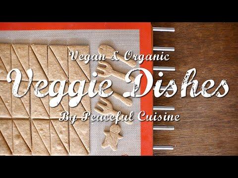 乳製品不使用の全粒粉クッキーとチョコレートソースのつくり方 : How to Make Vegan Cookie+ | Veggie Dishes by Peaceful Cuisine - YouTube