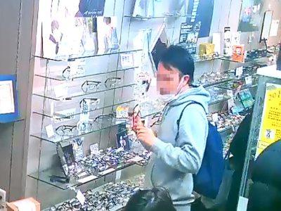 北区のめがね店で窃盗容疑の男 台東区のめがね店の万引き公開画像と酷似