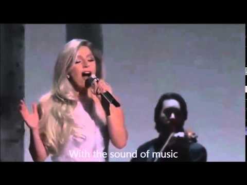 Lady Gaga - 'Sound of Music' Medley With Lyrics ( Oscars 2015 ) - YouTube