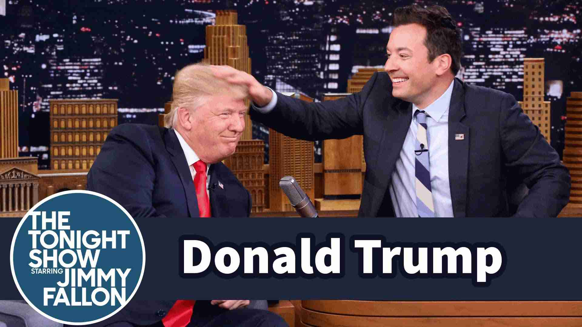 Donald Trump Lets Jimmy Fallon Mess Up His Hair - YouTube