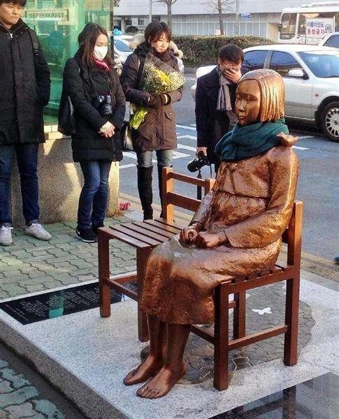 釜山の慰安婦像に「安倍政権の対応を謝罪します」のはがき、韓国メディア報じる 差出人が「朝日新聞記者と同姓同名」とネットで話題(1/2ページ) - 産経ニュース
