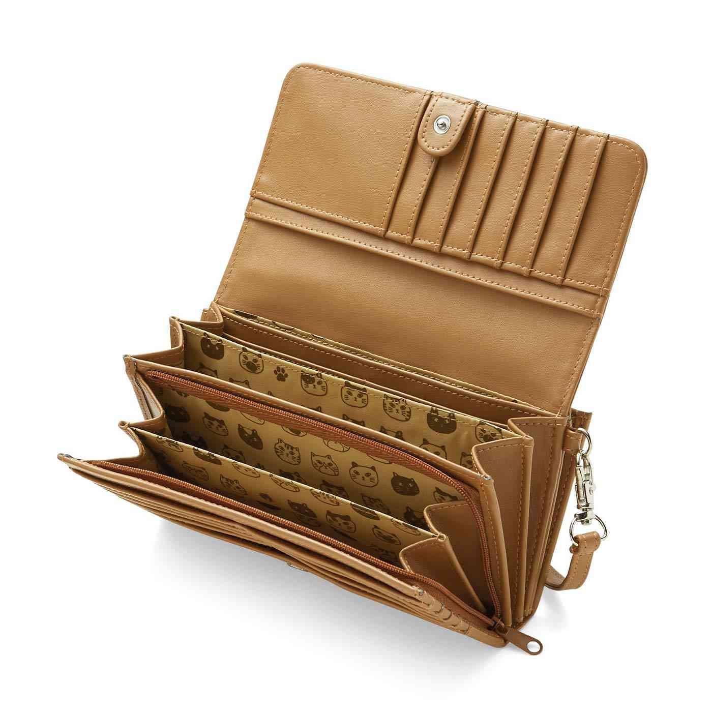 ツンデレにゃん 22ポケット付きの7つ星長財布|フェリシモ