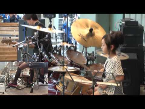 Domino Line / Casiopea(cover) by 8years Drummer Girl - YouTube
