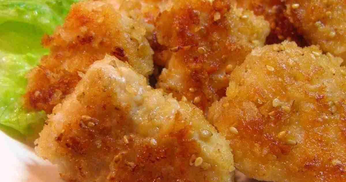 ✿鶏肉のにんにく醤油ごまパン粉焼き✿ by annnnn [クックパッド] 簡単おいしいみんなのレシピが259万品