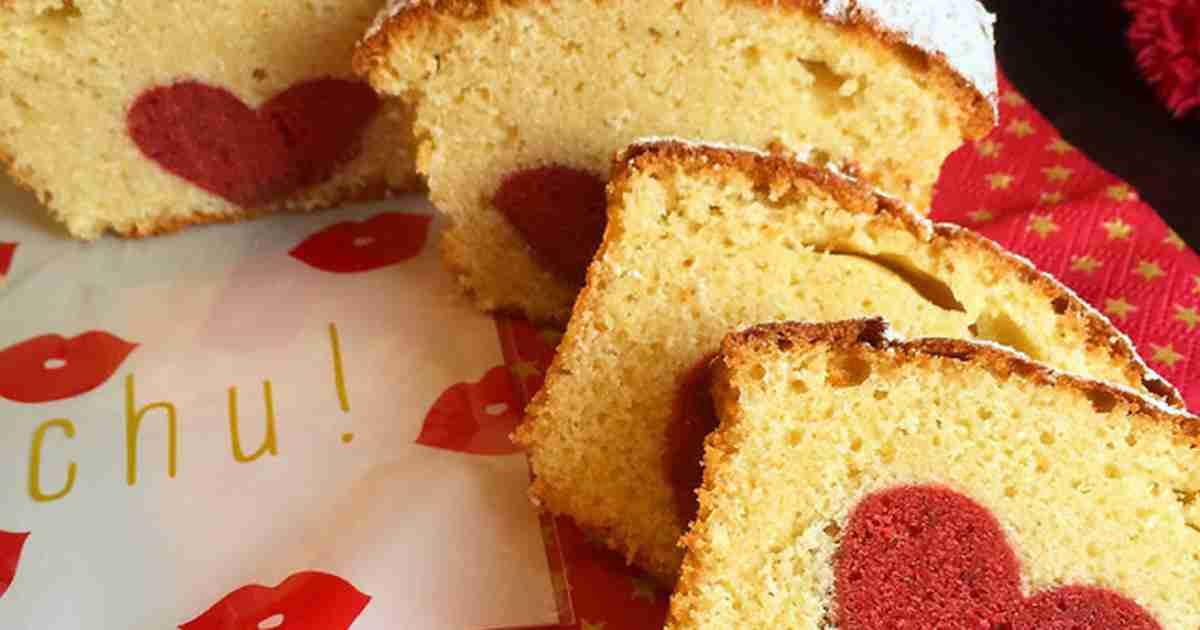 切っても切ってもハート♡なパウンドケーキ by sc0c0 [クックパッド] 簡単おいしいみんなのレシピが259万品