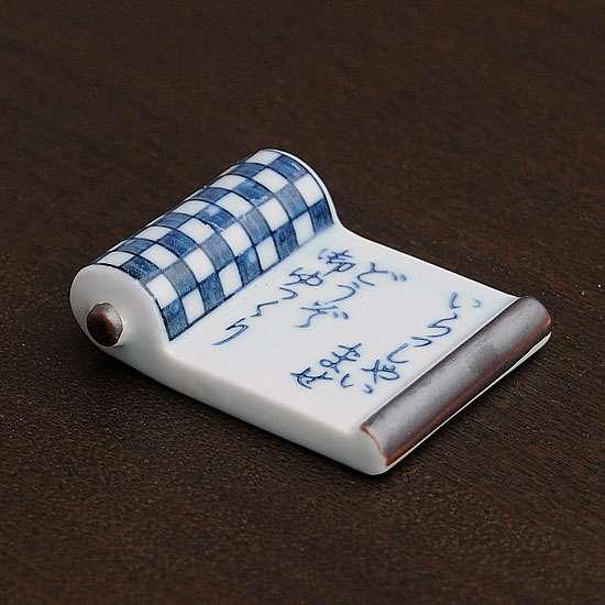 巻物(いらっしゃい市松)箸置き - 箸置き専門ショップ 箸まくら