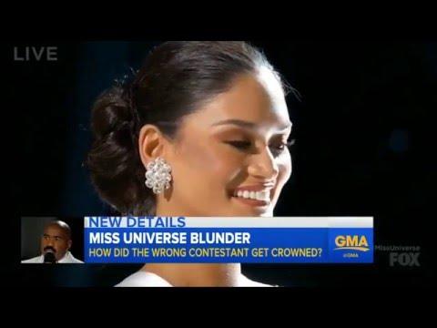 ミスユニバース 司会者の呼び間違いの大失態!フィリピンのウォルツバックが優勝のはずがコロンビアのグティエレス嬢にティアラが:2015 ミス日本ユニバース 英会話 学ぶ ニュース - YouTube