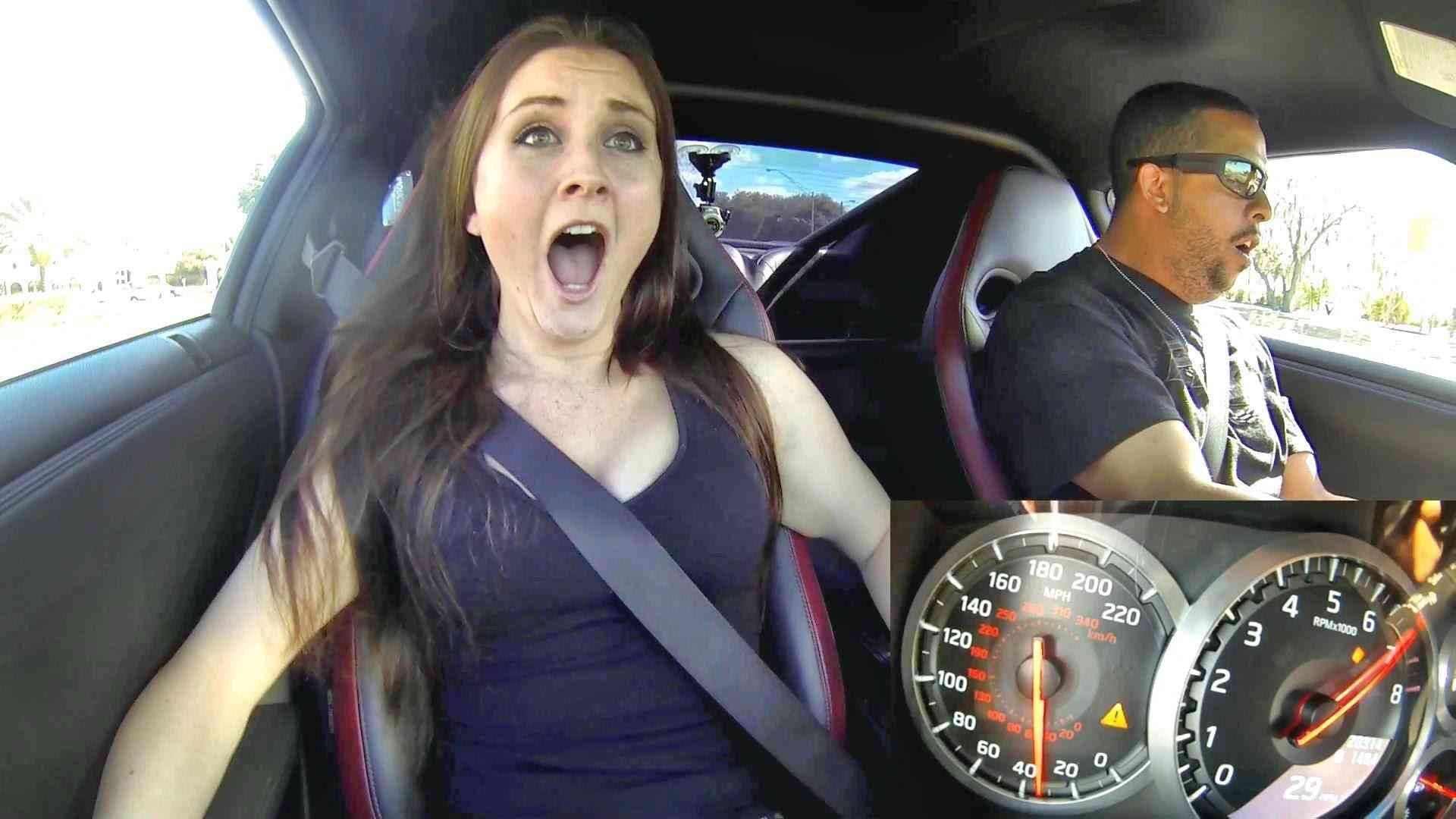 Nissan GTR 900hp: four girls reactions - YouTube