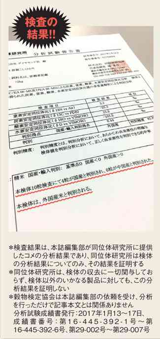 「JAのコメ」に産地偽装の疑い、魚沼産に中国産混入