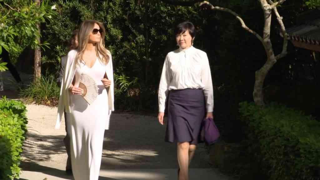 Melania Trump takes Akie Abe on Japanese garden tour - The Washington Post