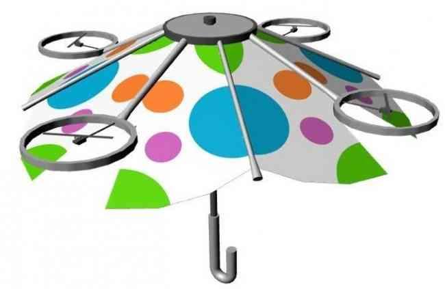 えっ、手で持たなくていい傘!? ドローンのように空中に浮かせる傘を現在開発中なんだって! | Pouch[ポーチ]