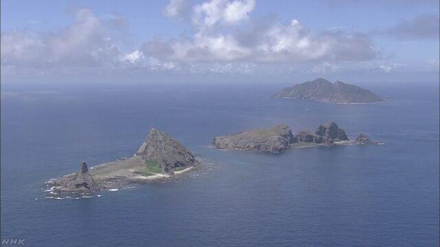 中国海警局船3隻 尖閣沖の日本の領海に侵入   NHKニュース