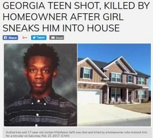 強盗と勘違い 父親、娘が家に招いた17歳少年を撃ち殺す(米)