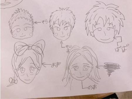 辻希美、夫・杉浦太陽が即興で描いた家族イラストにツッコミ