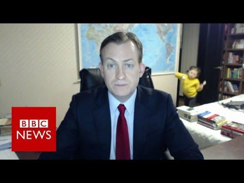 Children interrupt BBC News interview - BBC News - YouTube