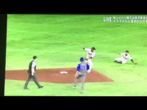WBC ゲームセット! のはずが牧田のまさかの…  しかし菊池のナイスプレーは流石! - YouTube
