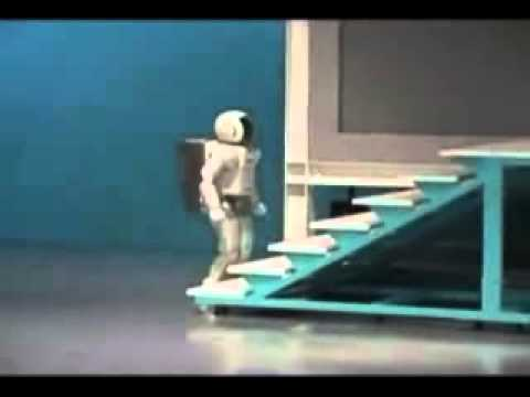 YouTube   ASIMO falls down stairs - YouTube