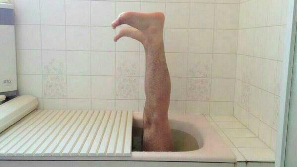 半身浴してる方いますかー?