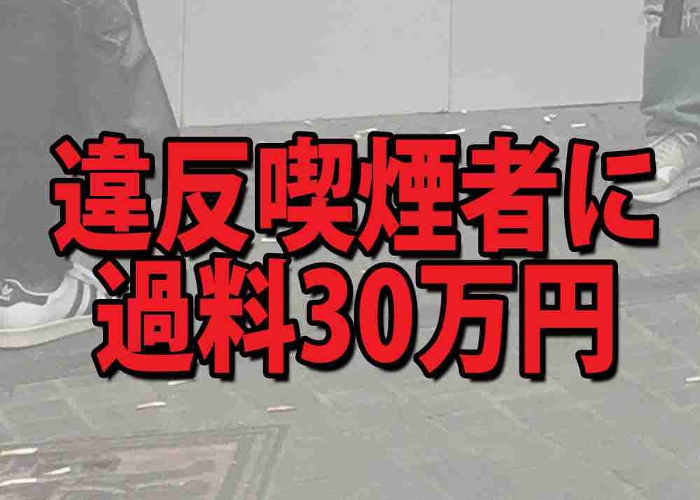 違反喫煙者に『過料30万円』を科す案に賛否の声!「厳しすぎる」「素晴らしい!」など議論白熱 | ロケットニュース24