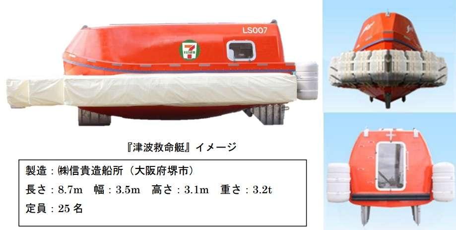 セブンイレブン、「津波救命艇」を店舗に設置 南海トラフ地震などに備え高知・愛知・静岡の3店舗に