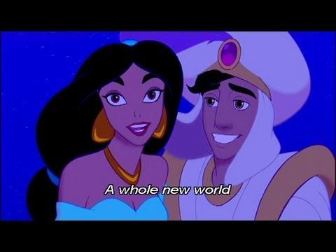アラジン A Whole New World 英語字幕付き - YouTube