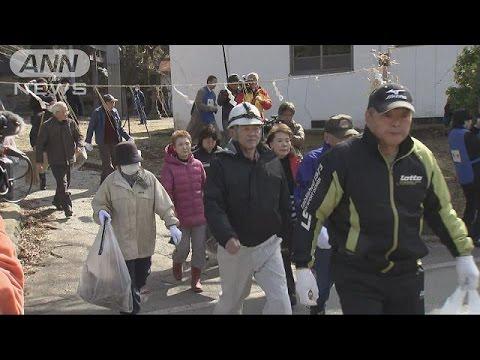 北のミサイル落下を想定 秋田で初の住民避難訓練(17/03/17) - YouTube