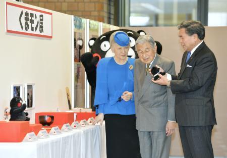 くまモンが天皇皇后両陛下を出迎えたときの皇后さまの質問www