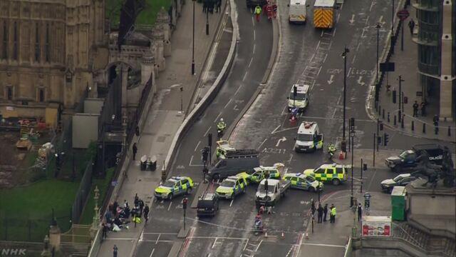英議会議事堂前でテロ事件か 警察官と歩行者3人死亡 | NHKニュース
