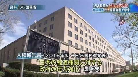 「日本政府がメディアに圧力」、米国務省が人権報告書で懸念(TBS系(JNN)) - Yahoo!ニュース