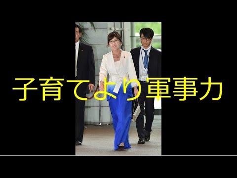 子供手当を削って軍事増強を 自民党 防衛大臣 稲田朋美  国会 - YouTube