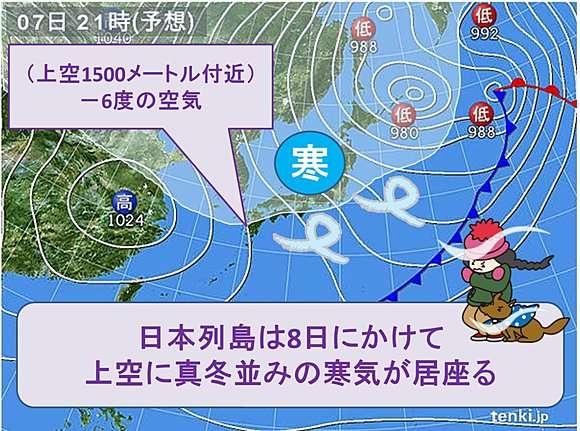 3月としては強い寒気が南下 季節は冬(日直予報士) - 日本気象協会 tenki.jp