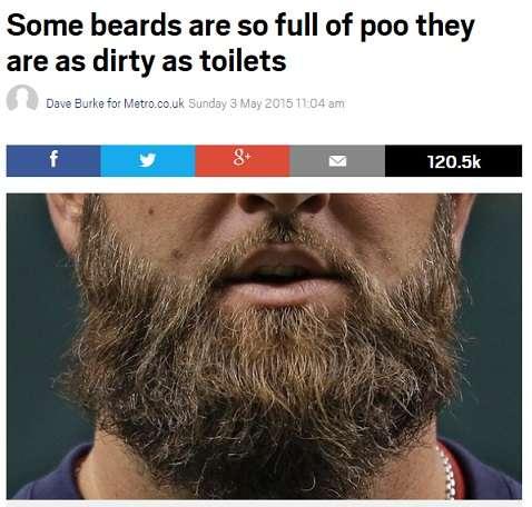 髭は予想以上に不潔。「便器ほどの細菌が付着している例も」と米・微生物学者。 - エキサイトニュース