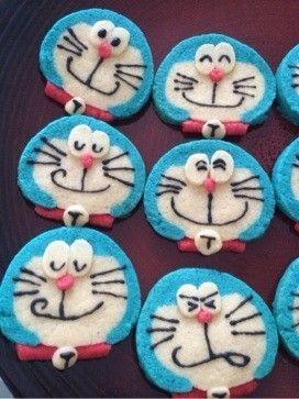 ドラえもんかわいいアイスボックスクッキー by プクル [クックパッド] 簡単おいしいみんなのレシピが233万品 | icebox cookie | Pinterest | Recipe
