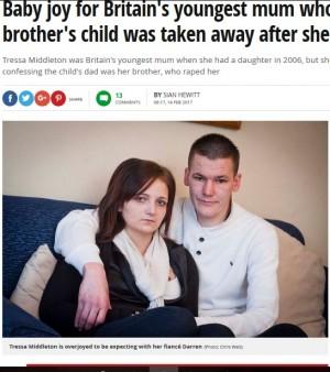 実兄にレイプされ12歳で出産 スコットランド女性、苦難乗り越え第2子を妊娠中