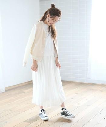 足が太い人の春ファッション