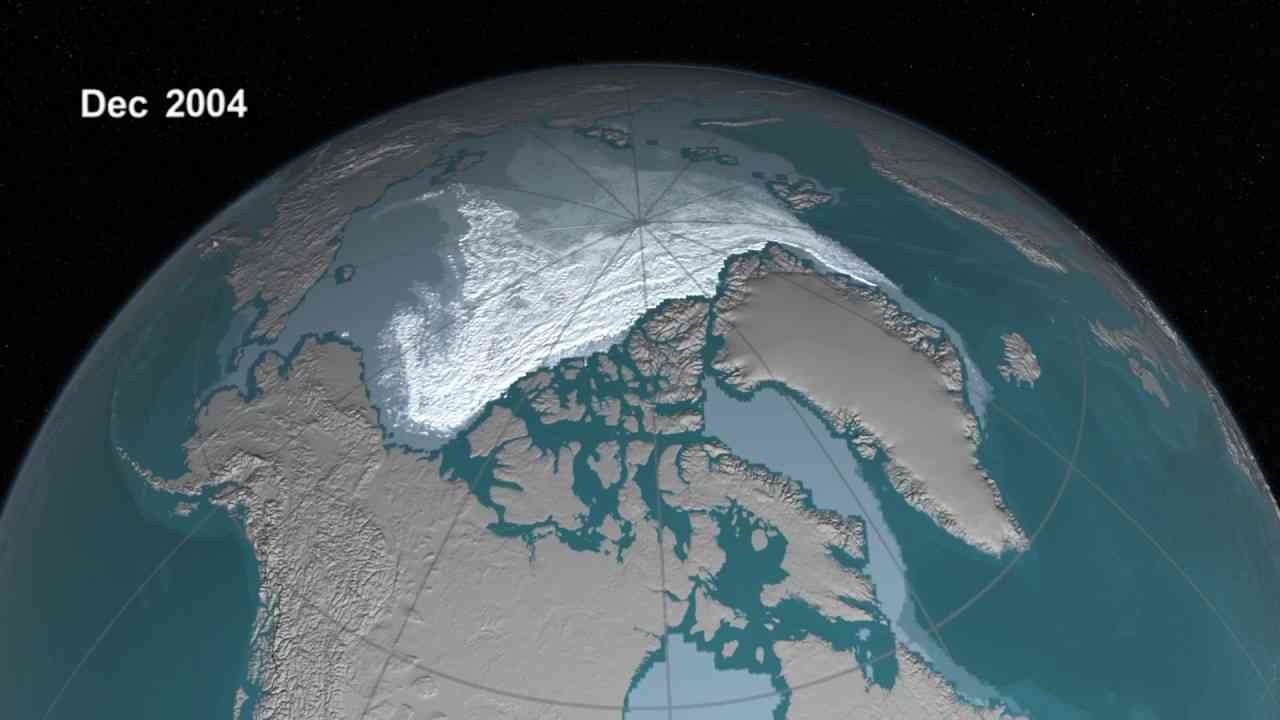 Older Arctic Sea Ice Disappearing - YouTube